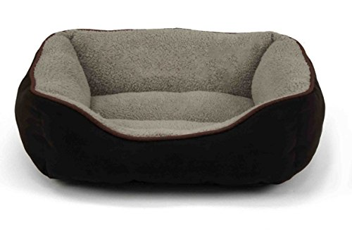 Cheap Dallas Manufacturing Co. Products 36-Inch Faux Suede Box Pet Bed, Large, Brown