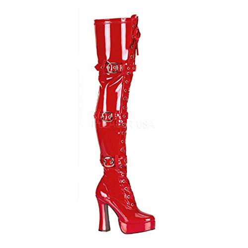 Heels-Perfect - Zapatos de vestir de material sintético para mujer rojo rojo rojo - Rot (Lack Rot)