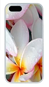 diy zheng Ipod Touch 5 5th Case, Ipod Touch 5 5th Cases - Plumeria After Morning Rain Polycarbonate Hard Case Back Cover for Ipod Touch 5 5th // White