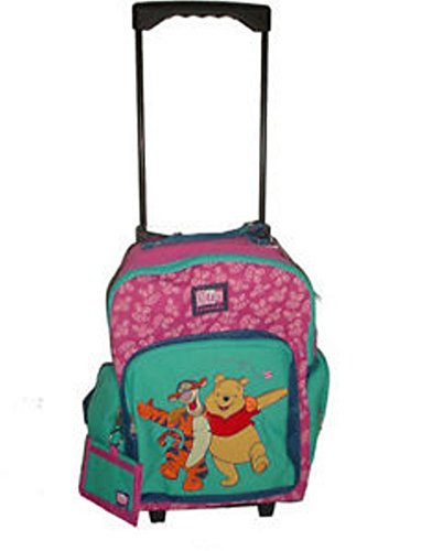 Winnie the Pooh Tigger Large Rolling Backpack bag Luggage Free Wallet Disney