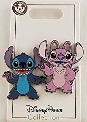 This listing is for Stitch and Angel 2 pin set from Lilo and Stitch. It features Stitch, experiment 626 smiling. Stitch is a furry alien with a blue furry body, light blue stomach, round black eyes and two upright eyes. He's standing alone, by himsel...