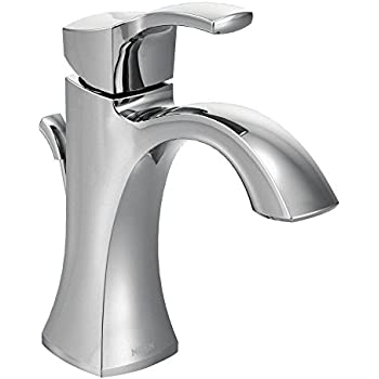 Moen 6400 Eva One Handle Single Hole Bathroom Sink Faucet