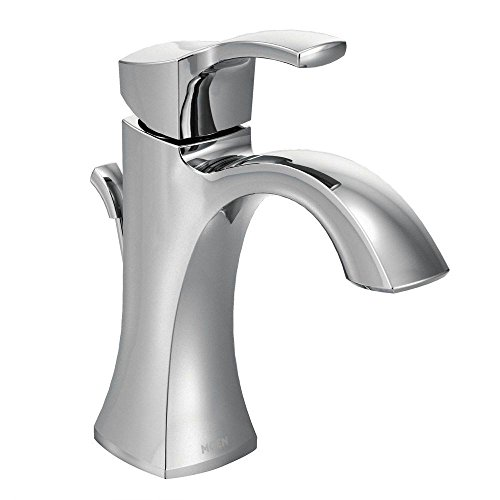 Moen Voss One-Handle High-Arc Bathroom Faucet with Drain Assembly, Chrome (6903) by Moen