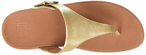 FitFlop Women's The Skinny Leather Toe-Thong Sandal Pale Gold buy cheap authentic outlet footlocker ibzdbpjr