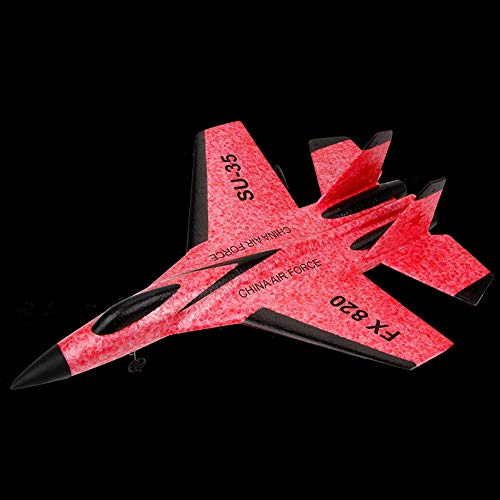 Antibacterial Slow Rebound SU-35 RC Helicopter 2.4GHz Plane Glider Airplane EPP Foam Remote Control Aircraft – Lift, Advance Retreat, Turn, Side Fly, Fine-Tuning (red)