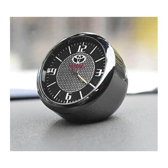 Incognito-7 3D Laxury Metal Toyota Clock Toyota Analog Clock Dashboard Watch for All Toyota Cars