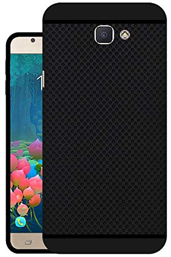 buy popular 06110 98b06 Hello Zone Exclusive Dotted Matte Finish Soft Back Case Cover for Samsung  J5 Prime-Black