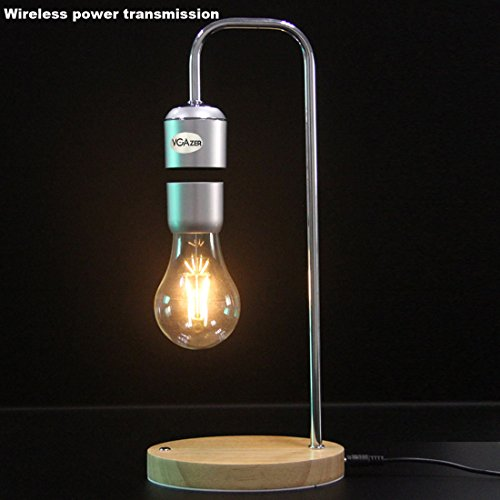 VGAzer Magnetic Levitating Floating Wireless LED Light Bulb for Desk Lamp,Room Or Office Decor,Unique Gifts by VGAzer