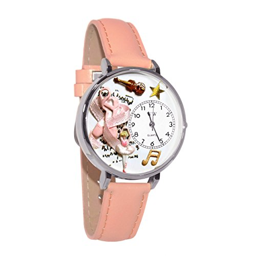Whimsical Watches Unisex U0510003 Ballet Shoes Pink Leather Watch from WHIMSICAL