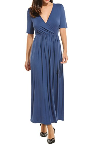 Jersey Pleated V-Neck Dress - 2