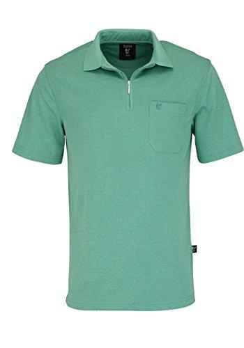hajo Poloshirt Halbarm Zipper mit Brusttasche Mittelgrün