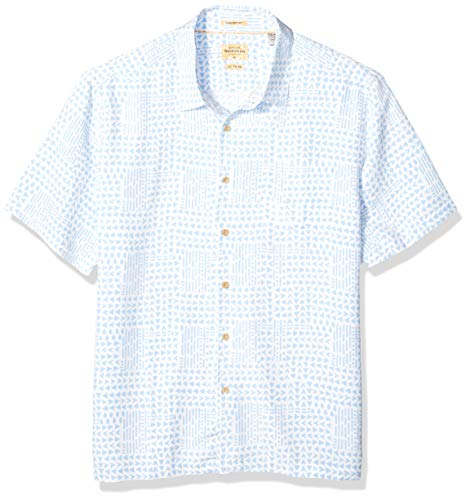Quiksilver Waterman Men's Tribal Matters Button Down Shirt, White, L