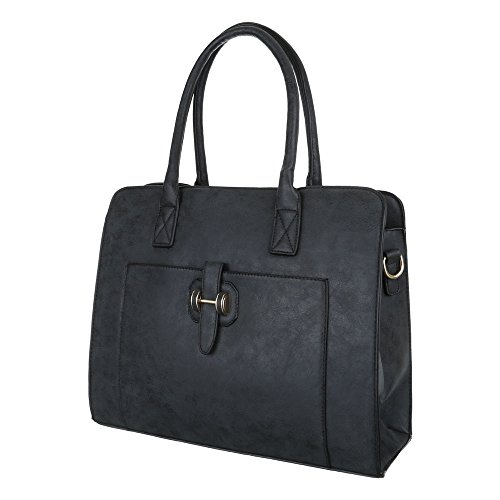 Schultertasche Tragetasche Handtasche Schwarz