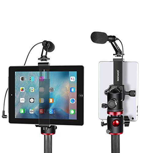 Neewer iPad Tablet Tripod Mount Adapter Holder, 6.3-9.25 inches/16-23.5 centimeters Adjustable Clamp for iPad Mini iPad 2/3/4, iPad Air/Air2, iPad Pro Microsoft Surface Samsung Tab 7.0 Series