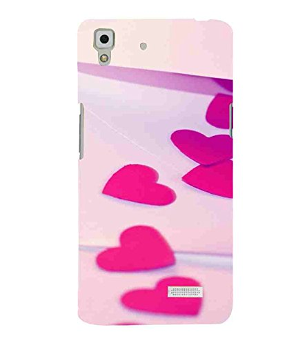 the best attitude 46a02 a1c90 for Oppo R7 : Oppo R7 Lite Heart, Pink Heart, Cream: Amazon.in ...