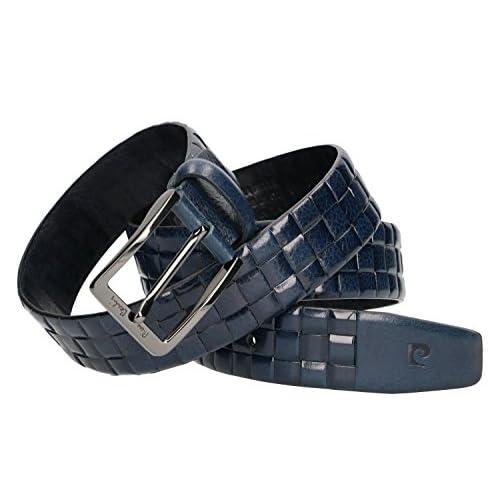 Mejor Cinturón hombre PIERRE CARDIN azul real cuero sin pespuntes MADE IN  ITALY 83fd6cce3e1e