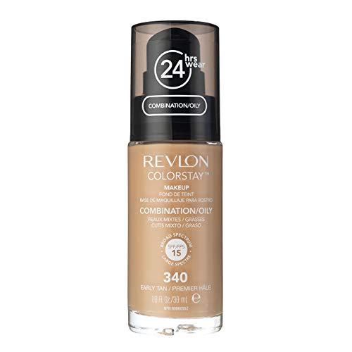Revlon Colorstay Make Up Combination Oily Skin 340 Earyly Tan 30ml (Best Revlon Foundation For Mature Skin)