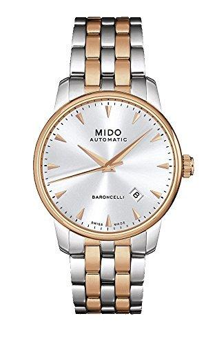 Mido Baroncelli Mido M86009111 - Reloj mecánico automático Suizo para Hombre, Color Blanco y Oro Rosa: Amazon.es: Relojes