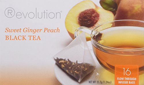 Revolution Tea Sweet Ginger Peach Tea, 16-Count Teabags (Pack of (Sweet Peach Tea)