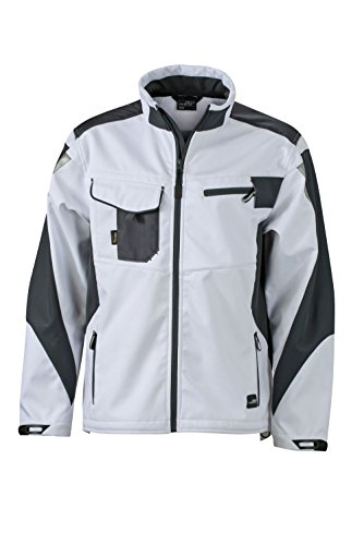 Jacket Professionale Softshell Workwear Di In nbsp; Softhell Qualità Dotazione White Giacca carbon Con vAqqw