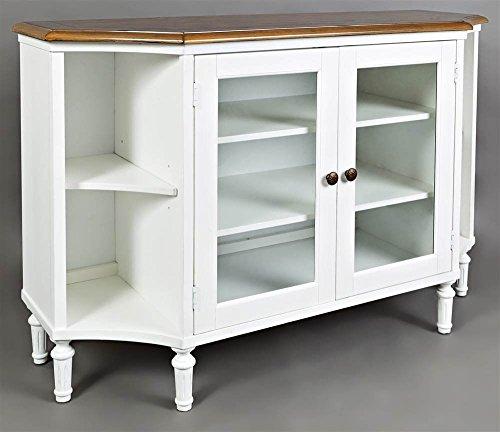 - Jofran 1776-54 Castle Hill Display Server Antique White and Oak 54