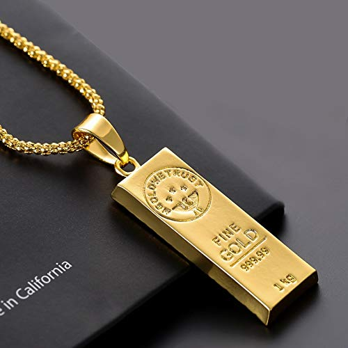 Jewelry Europe And America Hot We Trust Australia Gold Color Bars Pendant Men Necklace Hip Hop Jewelry