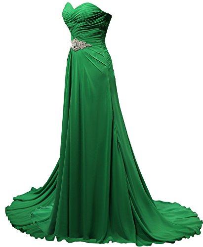 Viola d'onore elegante linea motivo a da Solovedress in Sera Chiffon donna Sera damigella lunghe vestito da Wfvw46aZnx