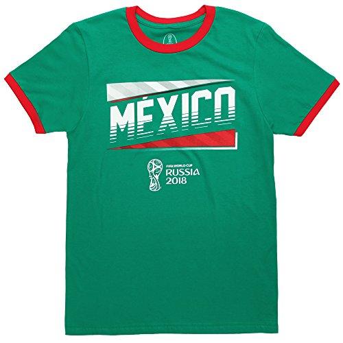 Fifth Sun World Cup 2018 Mexico Ringer Adult T-Shirt - Green (Medium)