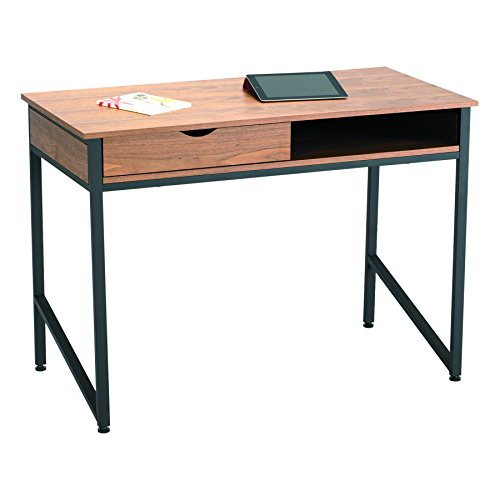 Safco Products 1950BL Studio Single Drawer Desk, Black (Safco Compact Products)