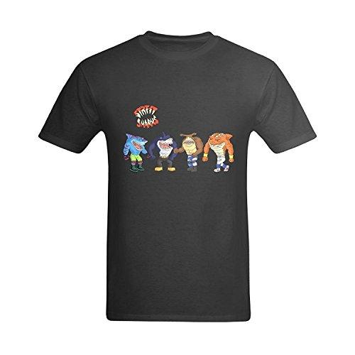 LittleArt Men's Street Sharks T-Shirt - Occation T-shirt US Size 8