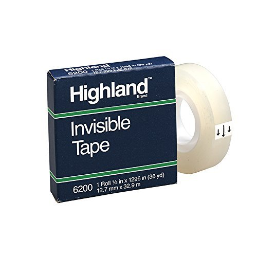 3M COMPANY HIGHLAND INVISIBLE TAPE 1/2X1296IN (Set of 6)