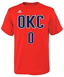 0921e8a12 get russell westbrook oklahoma city thunder 0 youth nba name number jersey  t shirt alternate orange