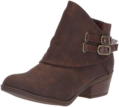 Blowfish Women's Sistee Ankle Boot Tobacco Rustic Faux Suede