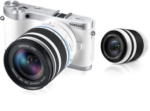 UPC 616932804991, Samsung NX300 Smart Wi-Fi Digital Camera Body & 18-55mm +50-200 Lens (White)