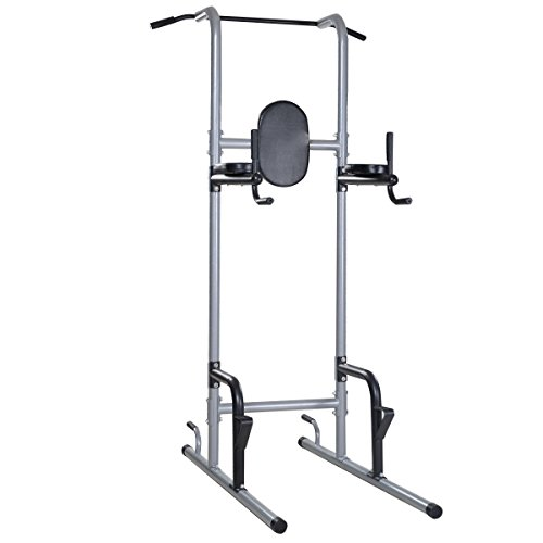 GHP 330Lbs Capacity Steel Frame Chin Up Pull Up Station Home Gym Workout Tower Rack by Globe House Products