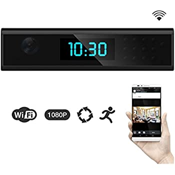 1920x1080 HD WIFI Hidden Spy Camera Clock Night Vision 1080P Wireless Covert Nanny Cam Support Android/iOS Phone View Video Monitor Recording for Home Security Motion Dection