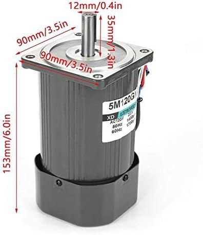 SSY-YU ACギアモーター、家電産業機器用知事とAC220V 120W 1400rpm CW/CCWメタルセルフロックウォーム変動金利ギアモーター(10K) 電動工具用