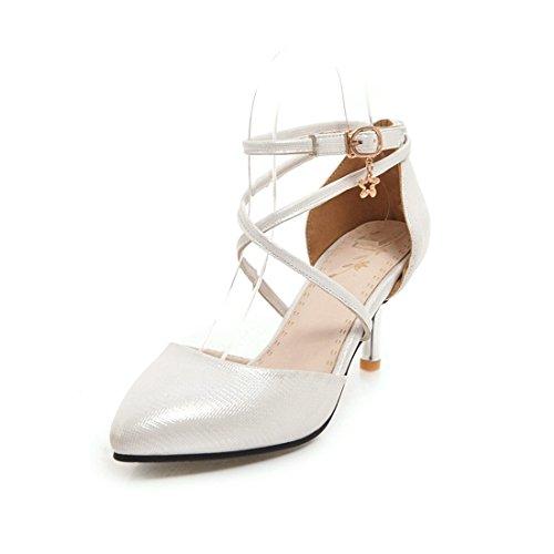 sandali signore 39 di signore hollow sexy i sandali tacco sandali white 7qZ86w