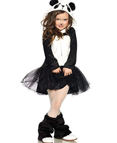 Leg Avenue C48180 Pretty Panda Kids Costume - Medium - Black/White (Girls Panda Costume)