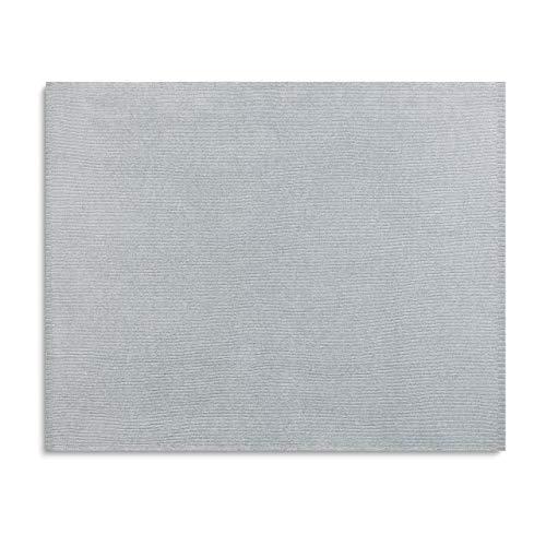 DEMDACO Stylish Chenille Soft Grey 60 x 53 Polyester Knit Fabric Throw Blanket