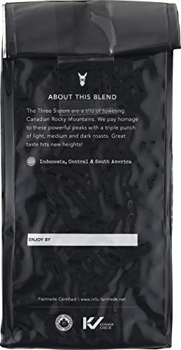 Kicking Horse Coffee, Three Sisters, Medium Roast, Whole Bean, 10 oz - Certified Organic, Fairtrade, Kosher Coffee