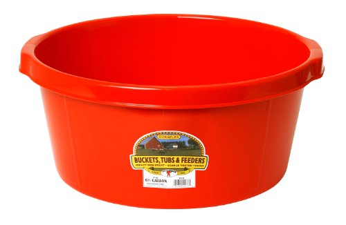 - Little Giant All-Purpose Tub, 6.5-Gallon, Red