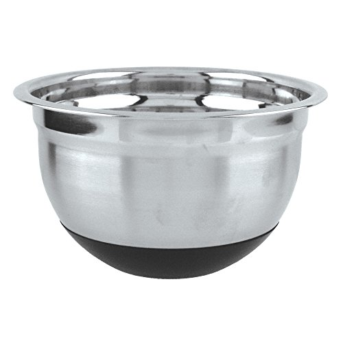 Fox Run 36427 Non-Skid Mixing Bowl, Stainless Steel, 5-Quart (Run Fox Stainless Steel Bowl Mixing)