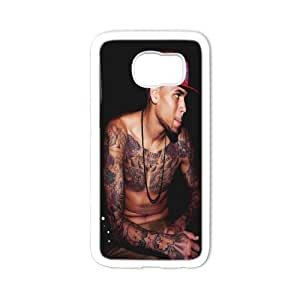 Customized Chris Brown S6 Cover Case, Chris Brown Custom Phone Case for Samsung Galaxy S6 at Lzzcase