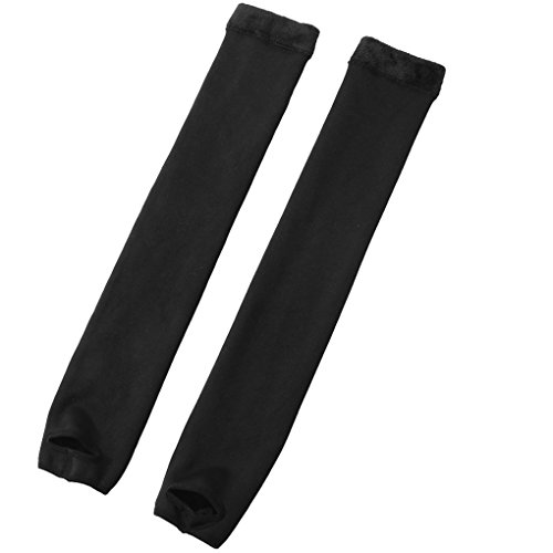Romastory Womens Over Knee Leg Warmers Winter Thick Fleece Lined Elastic Socks Tights Leggings (One Size Fits S/M/L, Footed) ()