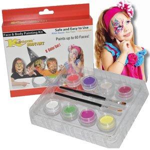 Custom Body Art Girls Face Paint Set 8 Color Boxed Set, 3 Ml