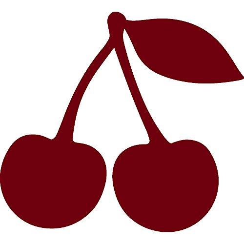 ANGDEST Cherry Silhouette (Burgundy) (Set of 2) Premium Waterproof Vinyl Decal Stickers for Laptop Phone Accessory Helmet Car Window Bumper Mug Tuber Cup Door Wall Decoration