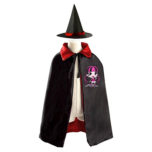 [DIY Monster High Costumes Party Dress Up Cape Reversible with Wizard Witch Hat] (Monster High Costumes At Party City)