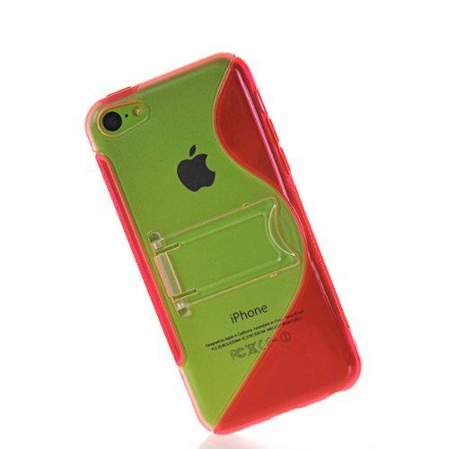 MOONCASE TPU Silicone Housse Coque Etui Gel Case Cover Pour Apple iPhone 5C Rose