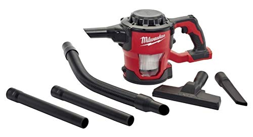 Milwaukee 0882-20 Filter M18 18V Cordless Lithium-ion Compact Vacuum, Hand Held 40 CFM (Complete Set), with Bonus Premium Microfiber Cleaner Bundle